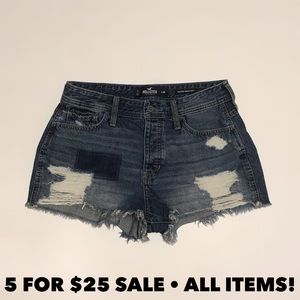 Hollister Vintage High Rise Distressed Shorts